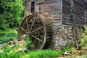 Old Mill Outside Gatlinburg Print by Mountain Dreams