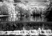 Grist Mill Prints - Old Mill Pond in Infrared Print by Paul W Faust -  Impressions of Light