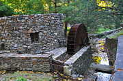 Main Line Framed Prints - Old Mill Wheel Framed Print by Bill Cannon