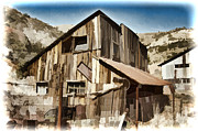 Old Mine Framed Prints - Old Mine Shack Framed Print by Jon Berghoff