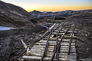 Old Mining Tracks Print by Aaron Spong