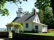 Traverse City Prints - Old Mission Lighthouse Print by Michelle Calkins