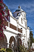 Oceanside California Posters - Old Mission San Luis Rey - California Poster by Jon Berghoff