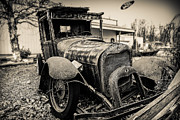 Rural Indiana Framed Prints - Old Model A pickup Framed Print by Keith Allen