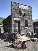 Gold Rush Prints - Old Molson Ghost Town Assay Office Print by Daniel Hagerman