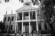 Florida House Framed Prints - Old Monroe County Court House Key West Florida Usa Framed Print by Joe Fox