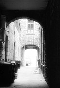 Old Montreal Metal Prints - Old Montreal Alley Metal Print by John Rizzuto