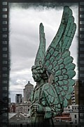 Filmstrip Framed Prints - Old Montreal Angel Filmstrip Framed Print by Alice Gipson