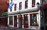 Old Montreal Metal Prints - Old Montreal Storefront Metal Print by John Rizzuto