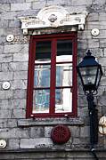 Quebec Places Prints - Old Montreal Window Print by John Rizzuto