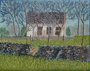 Old Pastels - Old Mountville Church by Cathy Pierce Payne