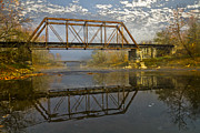 Vintage River Scenes Prints - Old Murphy Railroad Trestle Print by Debra and Dave Vanderlaan
