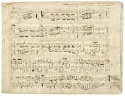 Old Music Notes - Chopin Music Sheet Print by Tilen Hrovatic