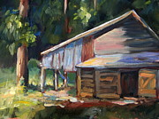 Farm Buildings Painting Originals - Old NC Barn by Bonnie Seyford
