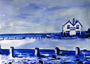 Paul Mitchell Acrylic Prints - Old Neptune Inn Whitstable Blue Study Acrylic Print by Paul Mitchell