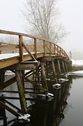Concord Massachusetts Metal Prints - Old North Bridge Metal Print by Allan Morrison