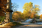 New England Fall Shots Photos - Old North Bridge by Brian Jannsen