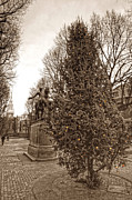 Historic Statue Art - Old North Church and Paul Revere by Joann Vitali