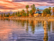 North Sea Paintings - Old North Shore Yacht Club at Salton Sea by Dominic Piperata