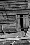 Old Cabins Photo Originals - Old Norwegian cottage by Loes Adegeest