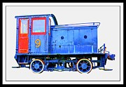 Engine Art - Old Number 9 - Small Locomotive by Edward Fielding