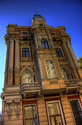 Old Building Pyrography Framed Prints - Old Odessa Framed Print by Semion Kovaliov