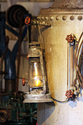 Oil Lamp Prints - Old Oil Lamp Print by Paul Eldred