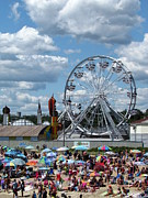 Umbrellas Digital Art - Old Orchard Ferris Wheel by Jason Stroffoleno