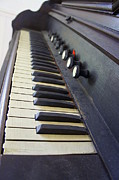Old Organ Keyboard Print by Laurie Perry