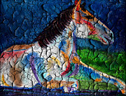 Paint Horse Mixed Media Posters - Old Paint Poster by Michael Knight