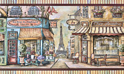 Homes Mixed Media Posters - Old Paris Poster by Gynt Art