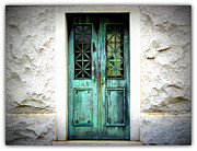 Entryway Prints - Old Patina Doors Print by Barbara Chichester