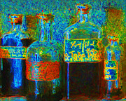 Professional Digital Art Prints - Old Pharmacy Bottles - 20130118 v1a Print by Wingsdomain Art and Photography