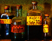 Professional Digital Art Prints - Old Pharmacy Bottles - 20130118 v1b Print by Wingsdomain Art and Photography