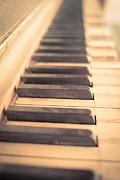 Old Piano Keys Print by Edward Fielding