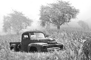 Pasture Scenes Posters - Old Pick Up Truck Poster by Debra and Dave Vanderlaan