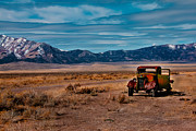 Haybales Photo Metal Prints - Old Pickup Metal Print by Robert Bales