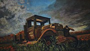 Dilapidated Farm Originals - Old Pickup Truck by Shirl Theis