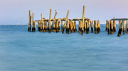 New England Villages Prints - Old Pier Print by Bill  Wakeley