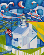 Liberty Paintings - Old Point Loma by Joseph Edward Allen