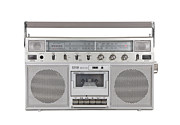 Tape Player Prints - Old Portable Stereo Cassette Player with Clipping Path Print by Trekkerimages Photography