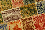 Postage Stamps Framed Prints - Old Postage Stamps from Around the World Framed Print by Amy Cicconi
