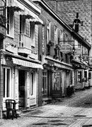 Quebec Art Prints - Old Quebec City 20 BW Print by Mel Steinhauer