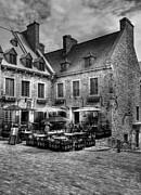 Old Quebec City Bw Print by Mel Steinhauer
