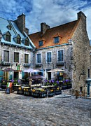 City Streets Photos - Old Quebec City by Mel Steinhauer