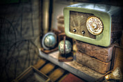 Old Radio In The Potting Shed Print by Art Hakker Photography