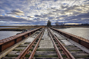 Salt Marsh Photos - Old Rail Bridge by Eric Gendron