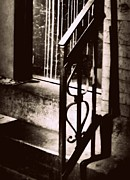 Entryway Prints - Old Railing Print by Miriam Danar