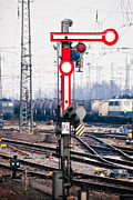 Traffic Control Photo Posters - Old railway semaphore Poster by Stephan Pietzko