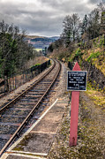 Llangollen Digital Art - Old Railway Sign by Adrian Evans